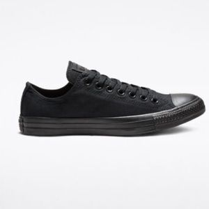 Converse All Star Black Monochrome -USED size 11.5